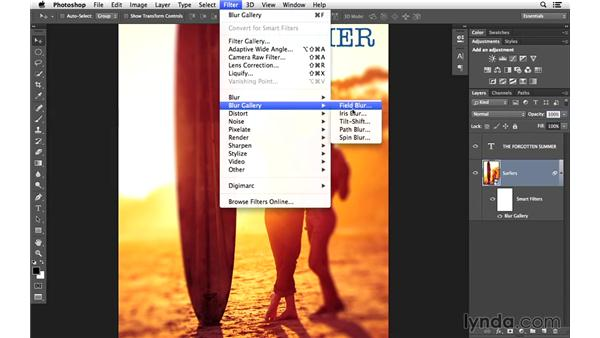 Using the Blur Gallery to add blur effects: Creative Blurring with Photoshop