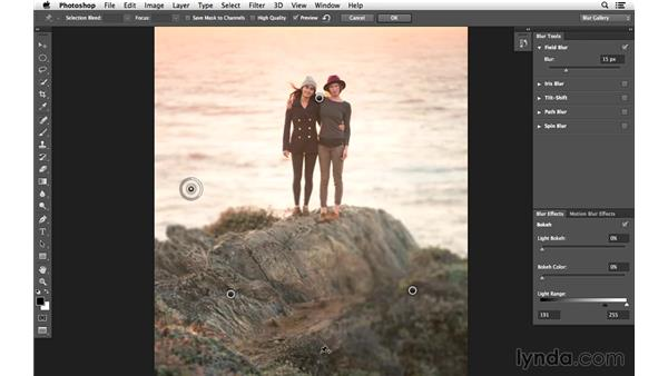 Crafting blur with multiple Field Blur pins: Creative Blurring with Photoshop