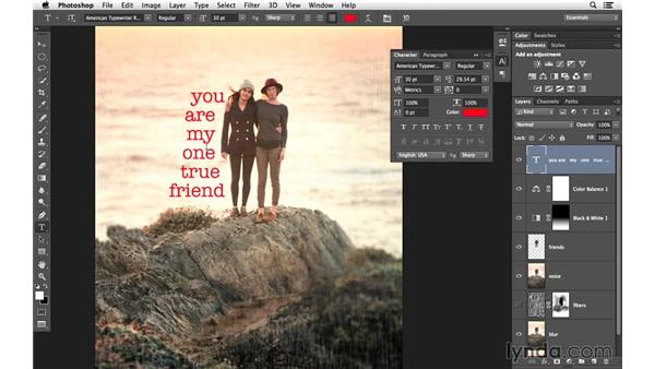 Creating one typography option: Creative Blurring with Photoshop