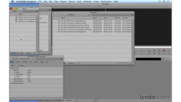 Exploring organizational features: Avid Media Composer 8 Essential Training