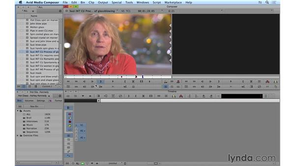 Navigating and marking clips: Avid Media Composer 8 Essential Training