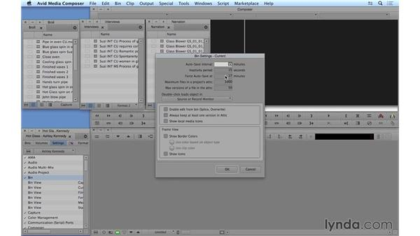 Saving and backing up your project: Avid Media Composer 8 Essential Training
