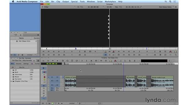 Using the Smart tool to move and trim shots: Avid Media Composer 8 Essential Training