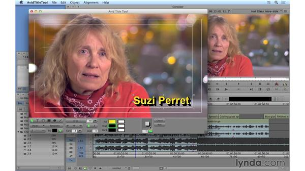 Creating a basic lower third with the Avid Title tool: Avid Media Composer 8 Essential Training