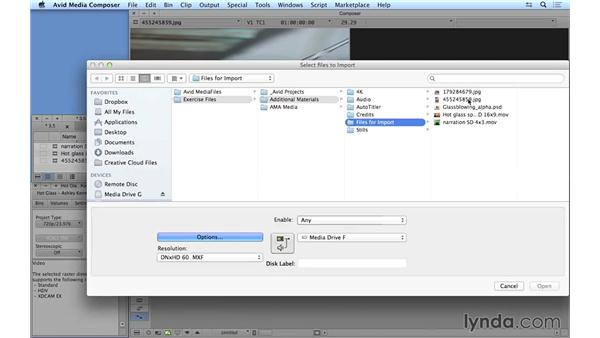 Importing your media traditionally: Avid Media Composer 8 Essential Training