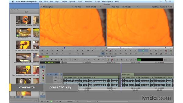 Continuing the edit: Adding and removing material: Avid Media Composer 8 Essential Training