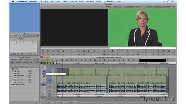Moving shots: Getting the most out of the Smart tool: Avid Media Composer 8 Essential Training