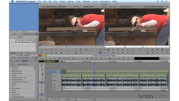 Performing replace edits: Avid Media Composer 8 Essential Training