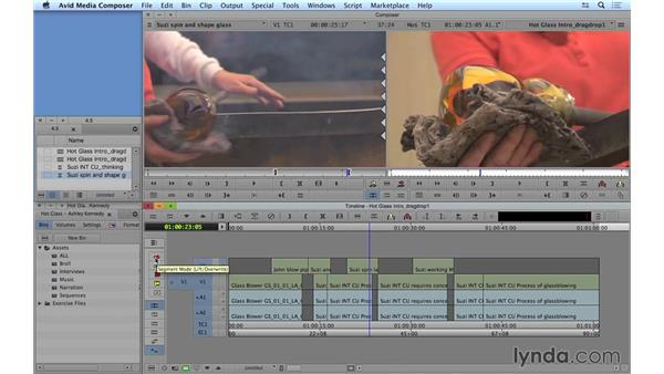 Drag-and-drop editing: Avid Media Composer 8 Essential Training