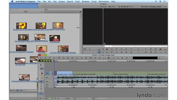 Performing top and tail editing: Avid Media Composer 8 Essential Training