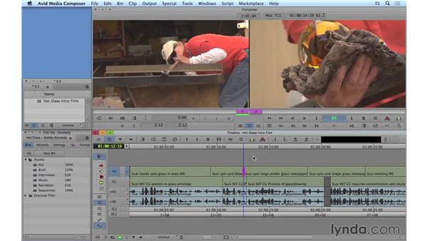 Performing dual-roller trims: Avid Media Composer 8 Essential Training