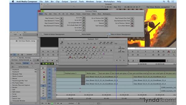 Using navigation shortcuts and customizing the keyboard: Avid Media Composer 8 Essential Training