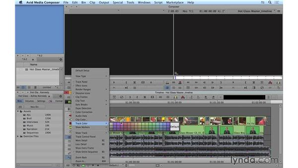 Customizing the timeline: Avid Media Composer 8 Essential Training
