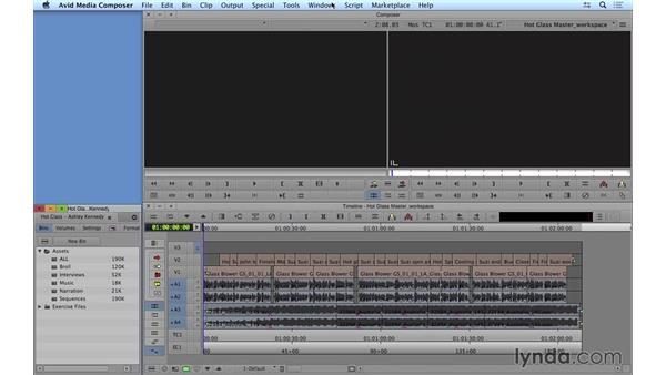 Using workspaces: Avid Media Composer 8 Essential Training