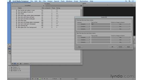 Sorting and sifting clips: Avid Media Composer 8 Essential Training