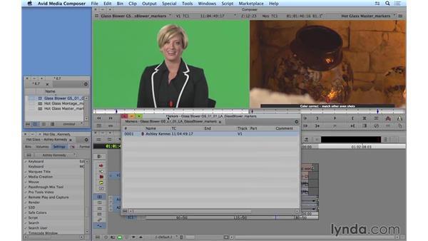 Using markers: Avid Media Composer 8 Essential Training