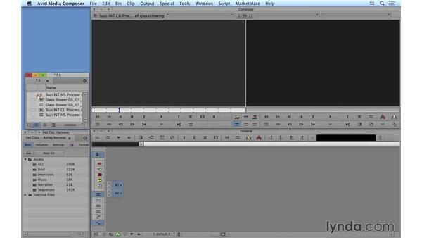 Syncing video to high-quality audio: Avid Media Composer 8 Essential Training