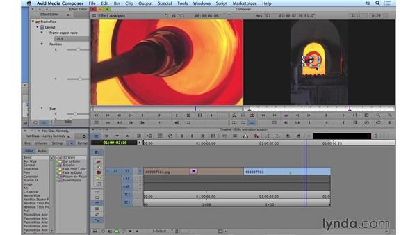 Animating stills: Avid Media Composer 8 Essential Training