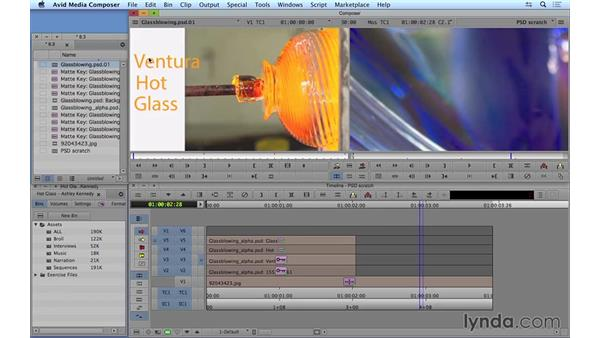 Working with layered Photoshop documents: Avid Media Composer 8 Essential Training