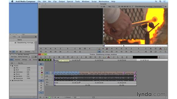 Applying and editing transitions: Avid Media Composer 8 Essential Training
