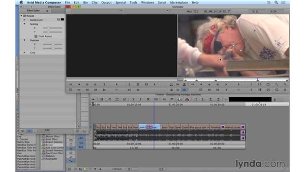 Keyframing effects: Avid Media Composer 8 Essential Training
