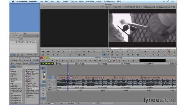 Nesting effects: Avid Media Composer 8 Essential Training