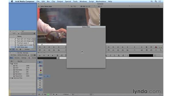 Creating basic motion effects: Avid Media Composer 8 Essential Training