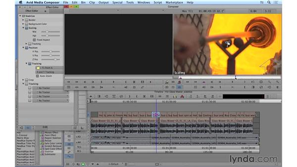 Stabilizing shaky footage: Avid Media Composer 8 Essential Training