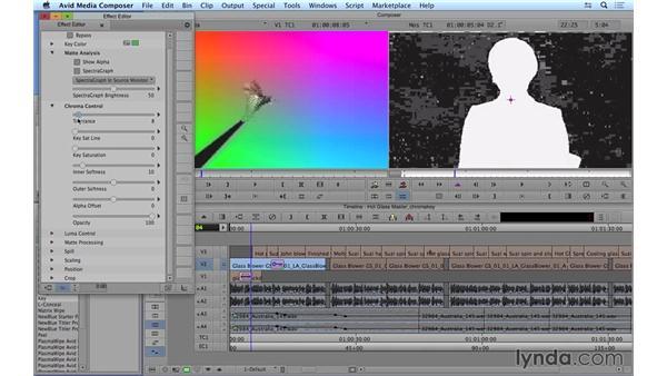 Chroma keying green-screen footage: Avid Media Composer 8 Essential Training