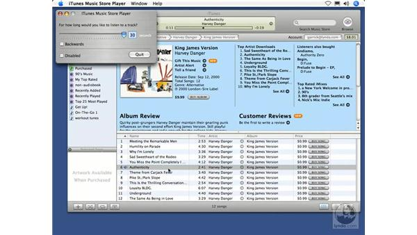 iTunes Music Store Player (Mac): iTunes 5 and 6 + iPod Essential Training