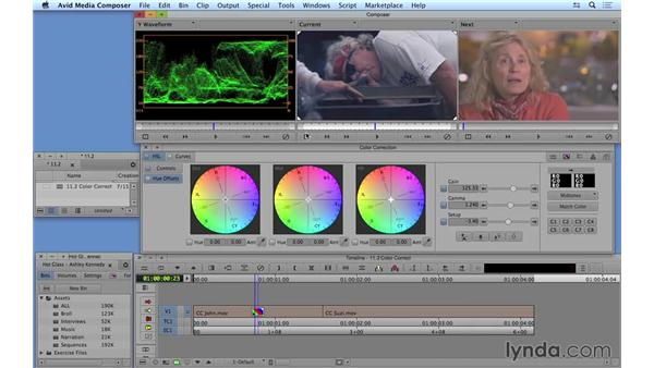 Following a proper color-correction workflow from start to finish: Avid Media Composer 8 Essential Training