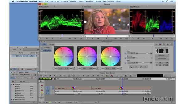 Color correcting in real time: Avid Media Composer 8 Essential Training