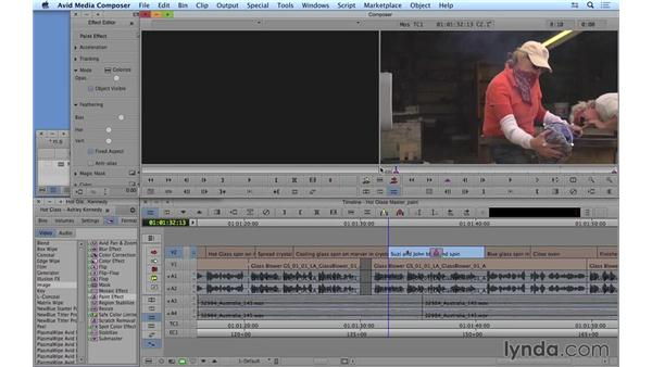 Color correcting with the Paint effect: Avid Media Composer 8 Essential Training