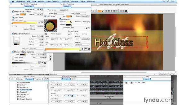 Using additional Marquee features: Avid Media Composer 8 Essential Training
