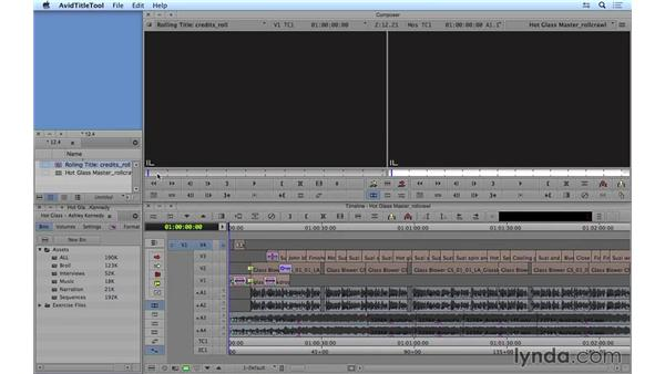 Creating rolling and crawling titles: Avid Media Composer 8 Essential Training