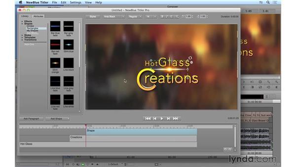 Using additional NewBlue Titler Pro features: Avid Media Composer 8 Essential Training