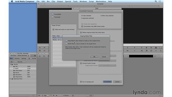 Moving your media: Avid Media Composer 8 Essential Training