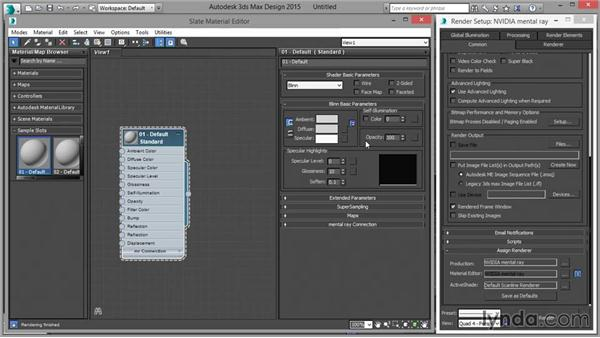 Setting up mental ray as the default render engine: Up and Running with mental ray in 3ds Max