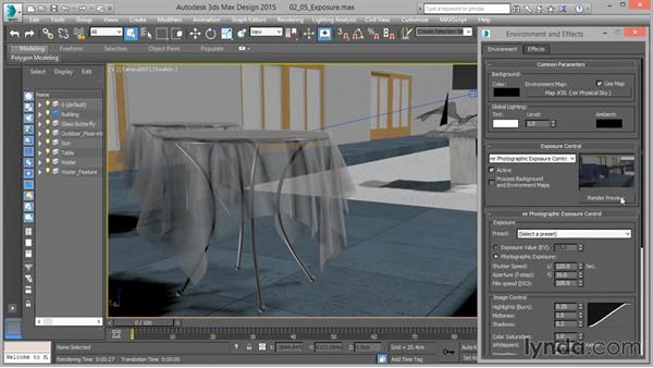 Working with exposure control: Up and Running with mental ray in 3ds Max