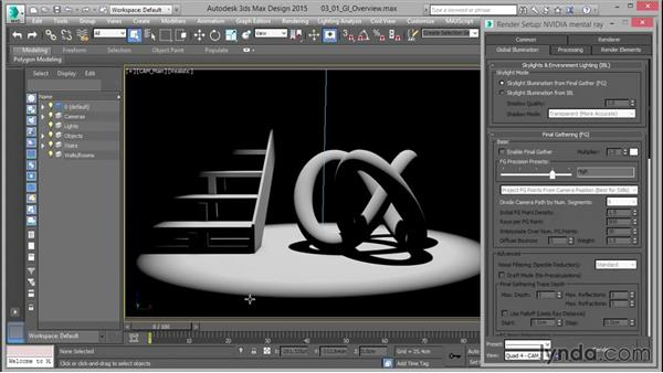 Global illumination overview: Up and Running with mental ray in 3ds Max