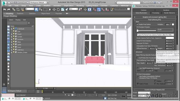 Using Final Gather: Up and Running with mental ray in 3ds Max