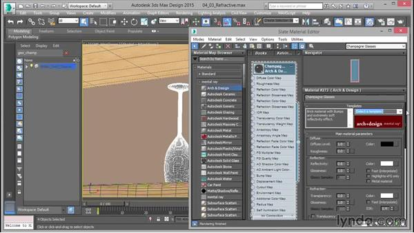 Arch & Design: Refractive (glass): Up and Running with mental ray in 3ds Max