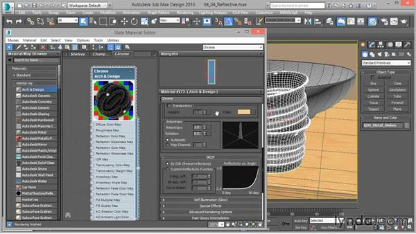 Arch & Design: Reflective (metals): Up and Running with mental ray in 3ds Max