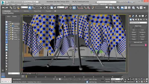 Arch & Design: Translucent (cloth): Up and Running with mental ray in 3ds Max