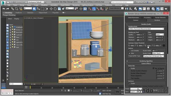 Unified Sampling controls: Part one: Up and Running with mental ray in 3ds Max