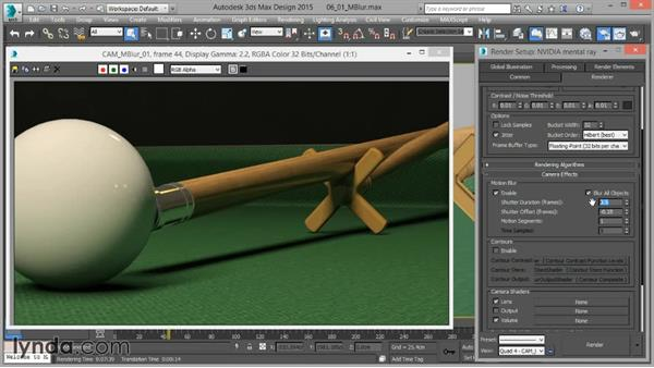Motion blur: Up and Running with mental ray in 3ds Max