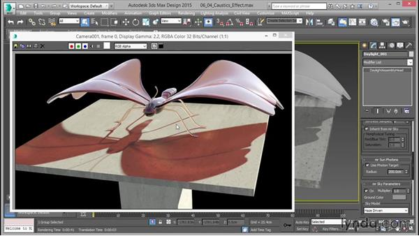 Creating the caustic effect: Up and Running with mental ray in 3ds Max