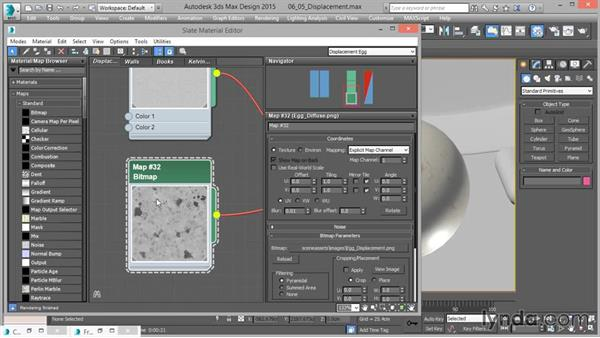 Working with displacement mapping: Up and Running with mental ray in 3ds Max