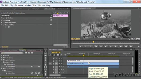 Controlling the render order of fixed effects by substituting standard effects: Premiere Pro Guru: Effects and Preset Management