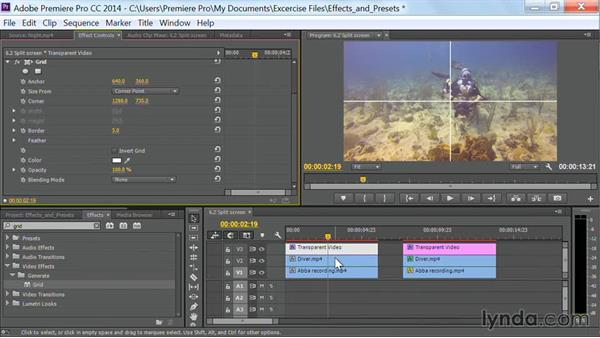 Split screen: Premiere Pro Guru: Effects and Preset Management